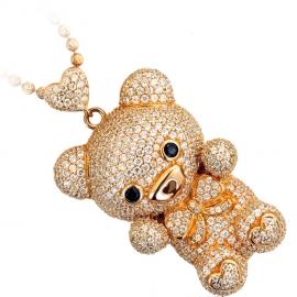 Bear Pendant Necklace Set RG