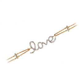 Love Diamond Double Chain Bracelet RG
