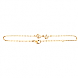 Heart U Diamond Bracelet RG