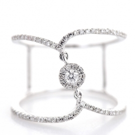 """Center Of The Universe"" Diamond Ring WG"