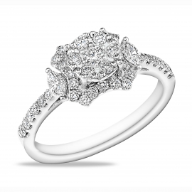 """Divining  Bloom"" Diamond Ring WG"