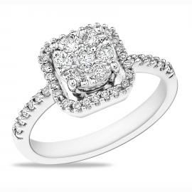Diamond Ring R4028 WG 0.55CT