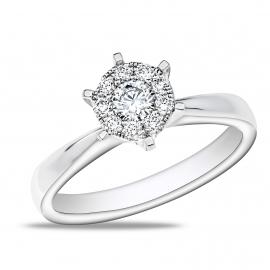 """6 Prong"" Diamond Ring WG"