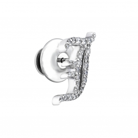 """J"" Diamond Accessory Pin 10K 0.4CT"
