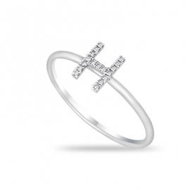 """""""H"""" Diamond Ring WG"""