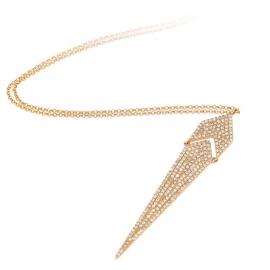 DAZZLING DIAMOND NECKLACE 14K YG